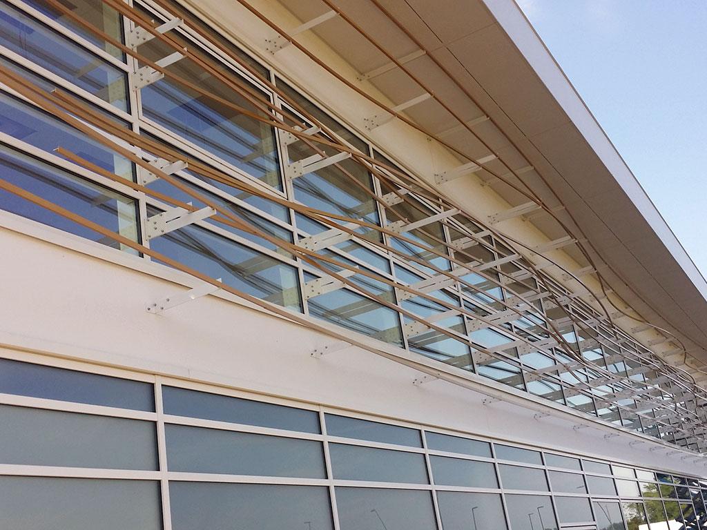 Rrivestimento facciata, pannellature ondulate, pannelli in alluminio, rivestimento metallico, facciata in metallo, pannelli in metallo ondulati