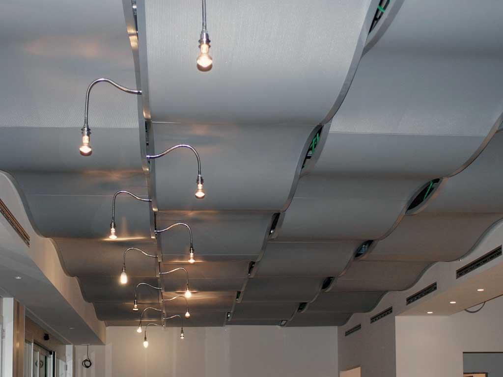 Pannelli in metallo, controsoffitto in metallo, controsoffitto in alluminio